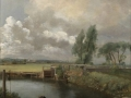 John Constable, R.A. 'Flatford Lock from Mill House'