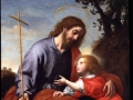 Carlo Dolci 'Saint Joseph giving the Cross to the Christ Child'